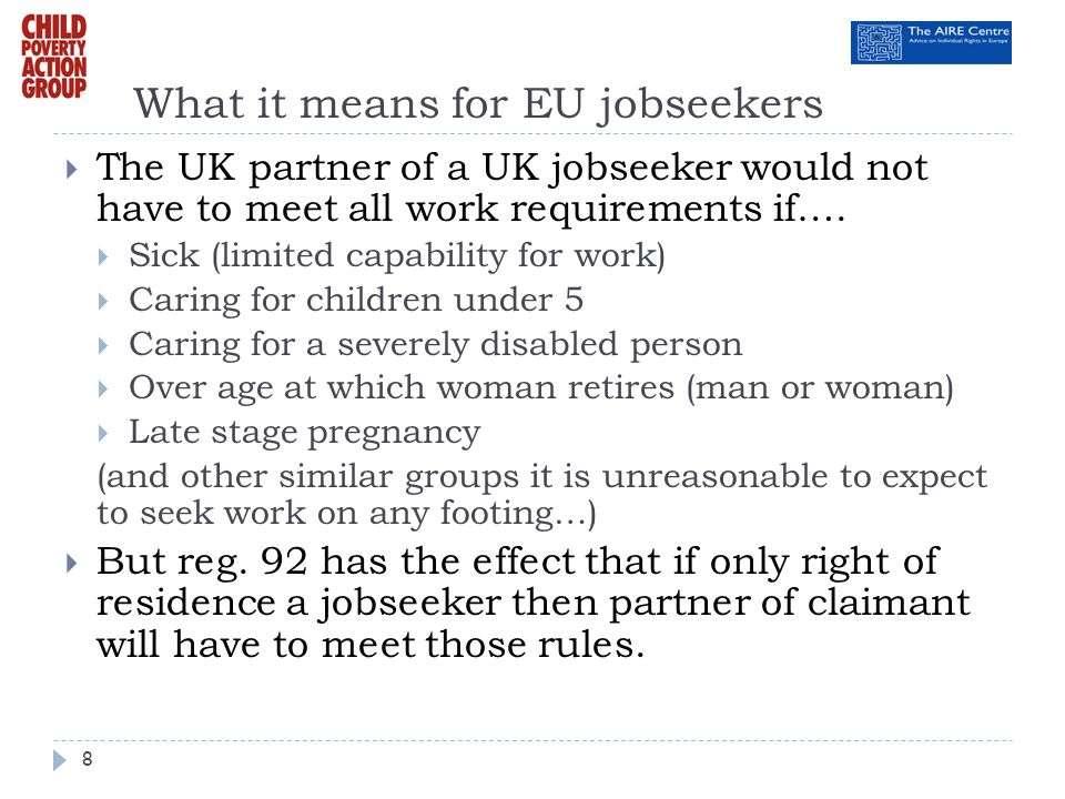 What it means for EU jobseekers