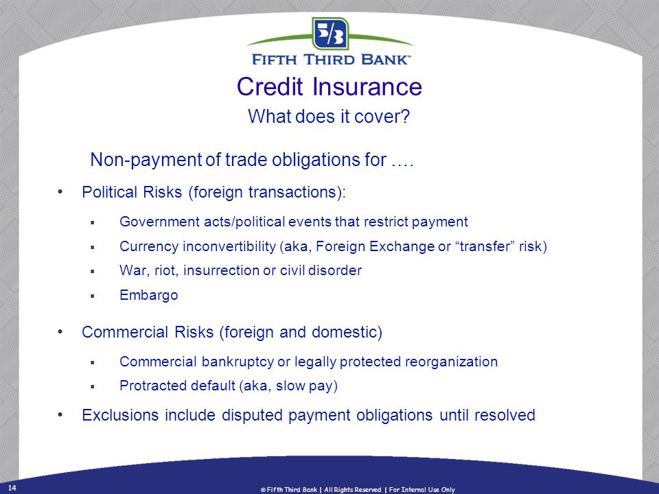 Credit Insurance What does it cover