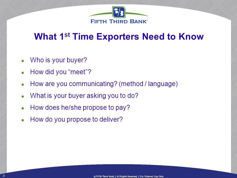 What 1st Time Exporters Need to Know
