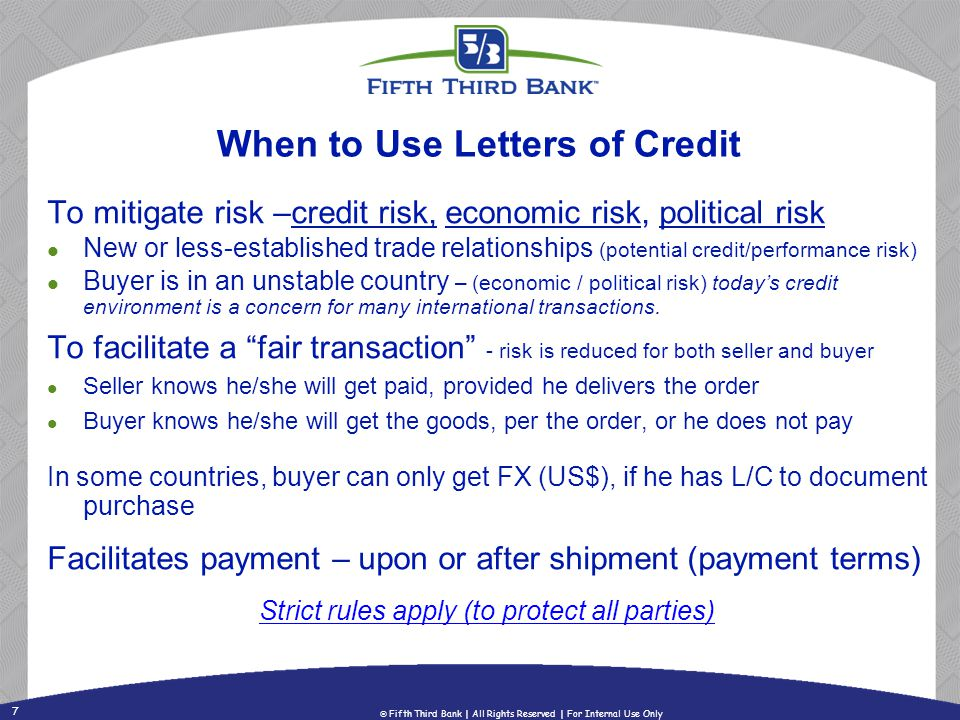 When to Use Letters of Credit