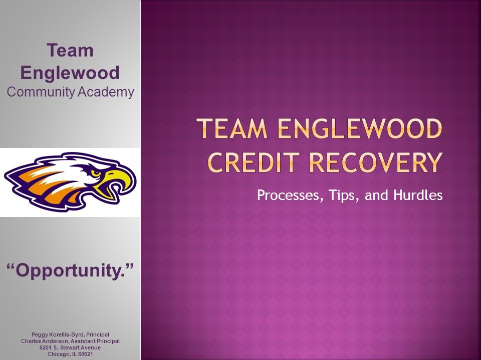 Team Englewood Credit recovery