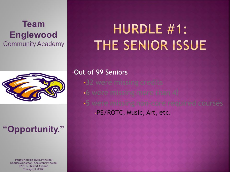 Hurdle #1: the senior issue