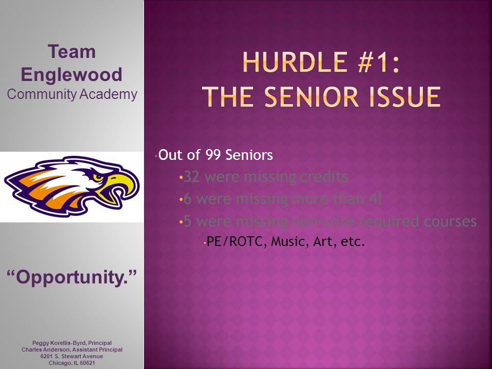 Hurdle #1: the senior issue