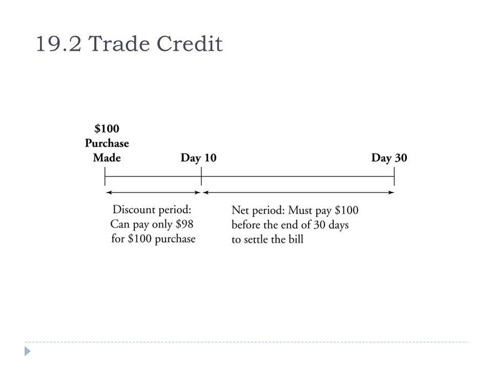 19.2 Trade Credit