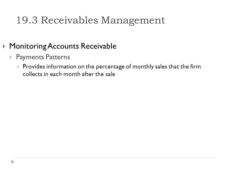 19.3 Receivables Management