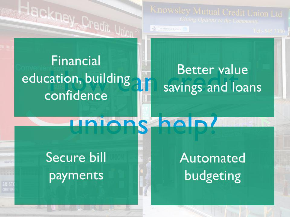 How can credit unions help Financial education, building confidence