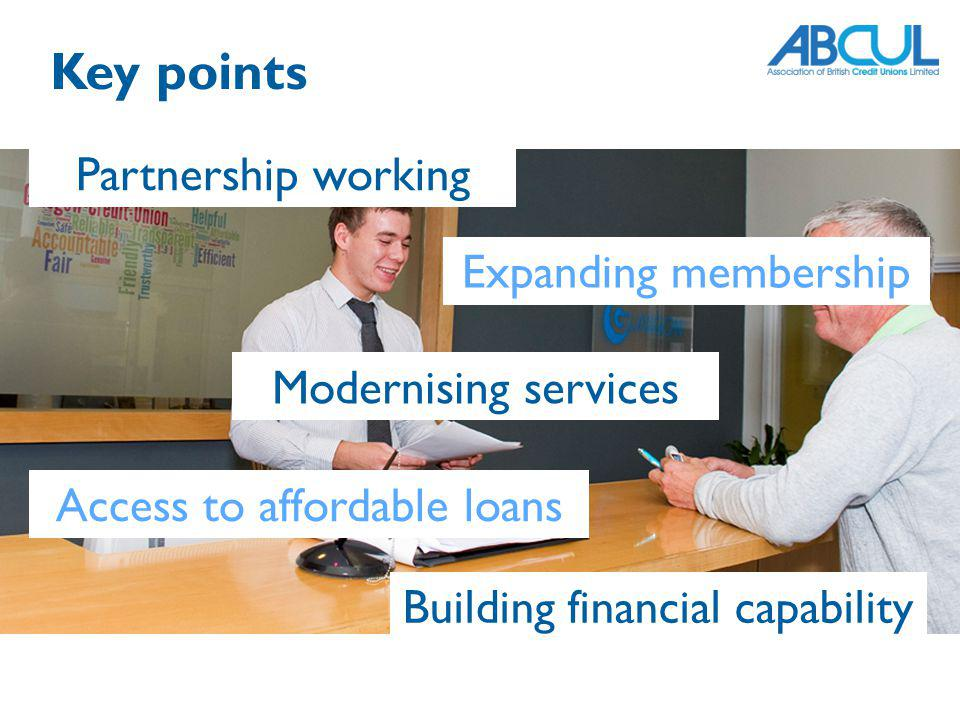 Key points Partnership working Expanding membership
