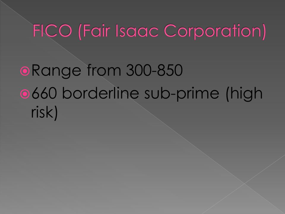 FICO (Fair Isaac Corporation)