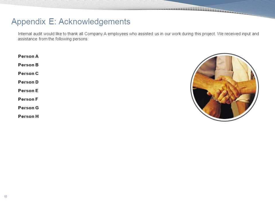 Appendix E: Acknowledgements