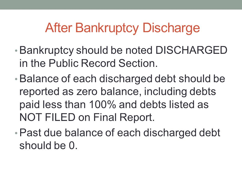 After Bankruptcy Discharge