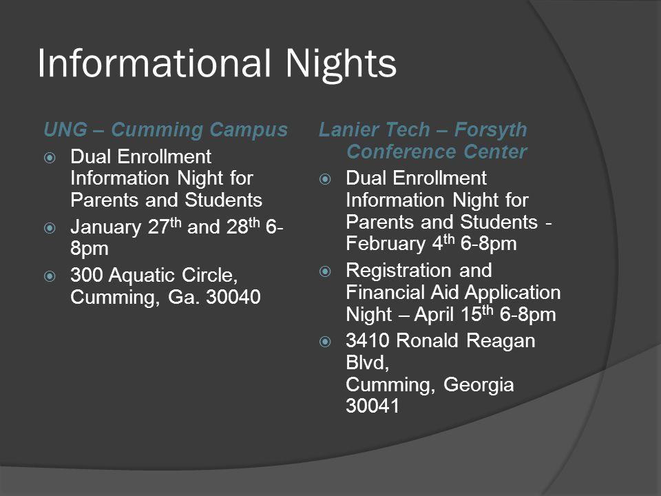Informational Nights UNG – Cumming Campus