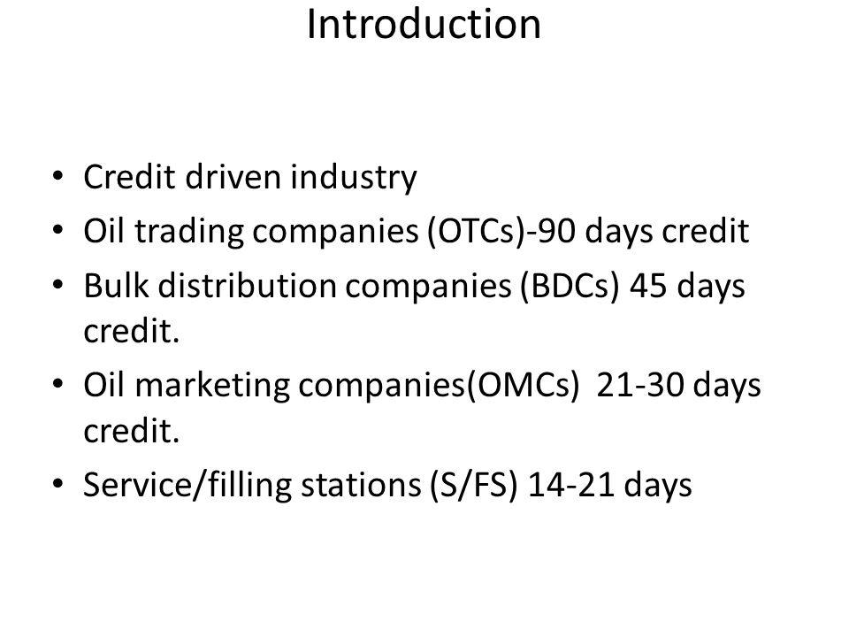 Introduction Credit driven industry