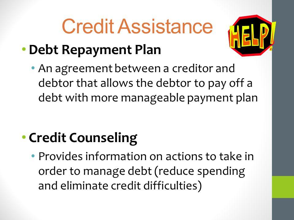 Credit Assistance Debt Repayment Plan Credit Counseling