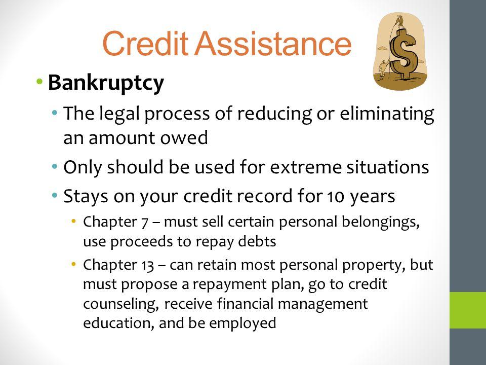 Credit Assistance Bankruptcy