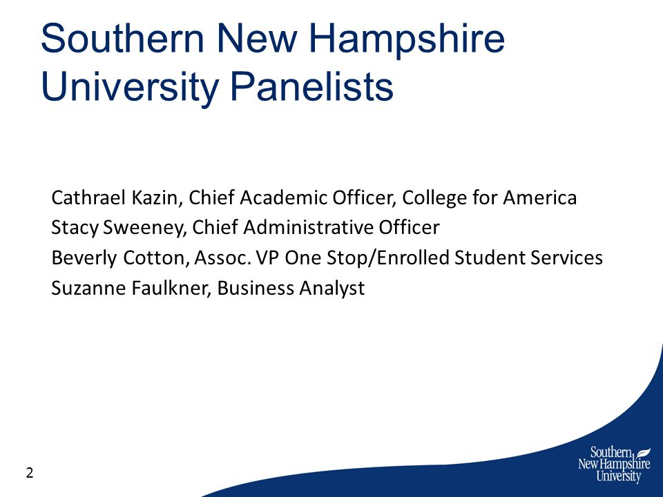 Southern New Hampshire University Panelists