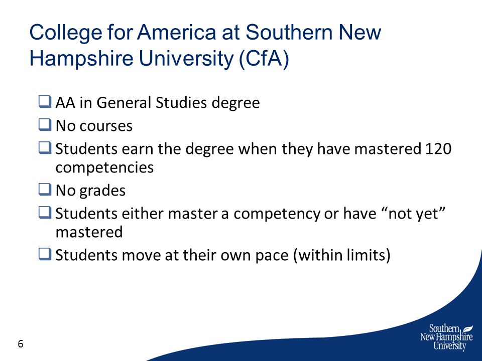 College for America at Southern New Hampshire University (CfA)