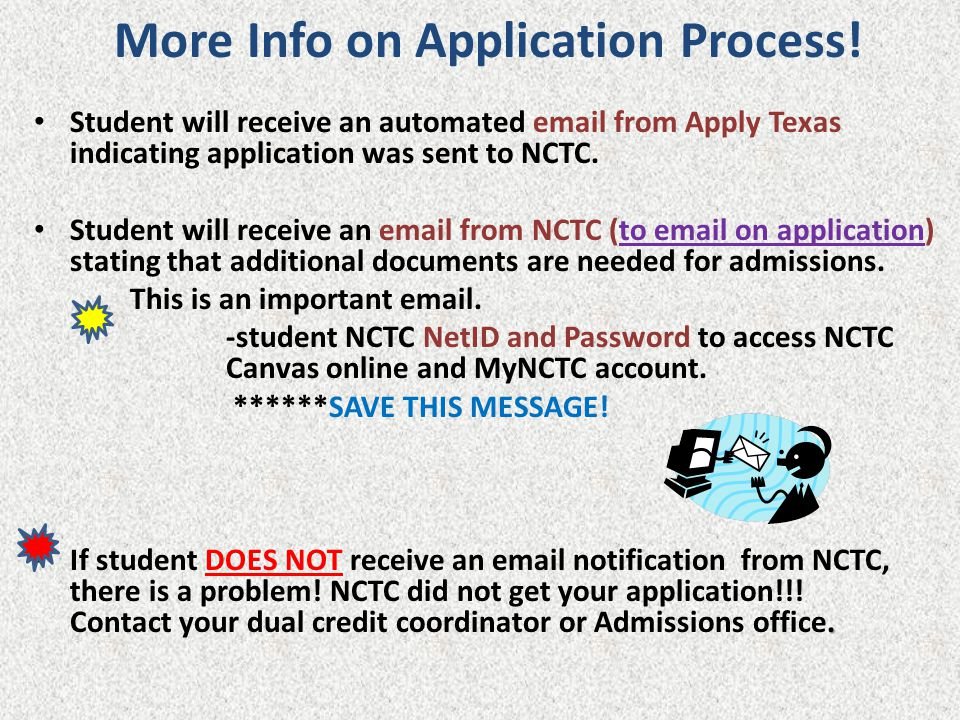More Info on Application Process!