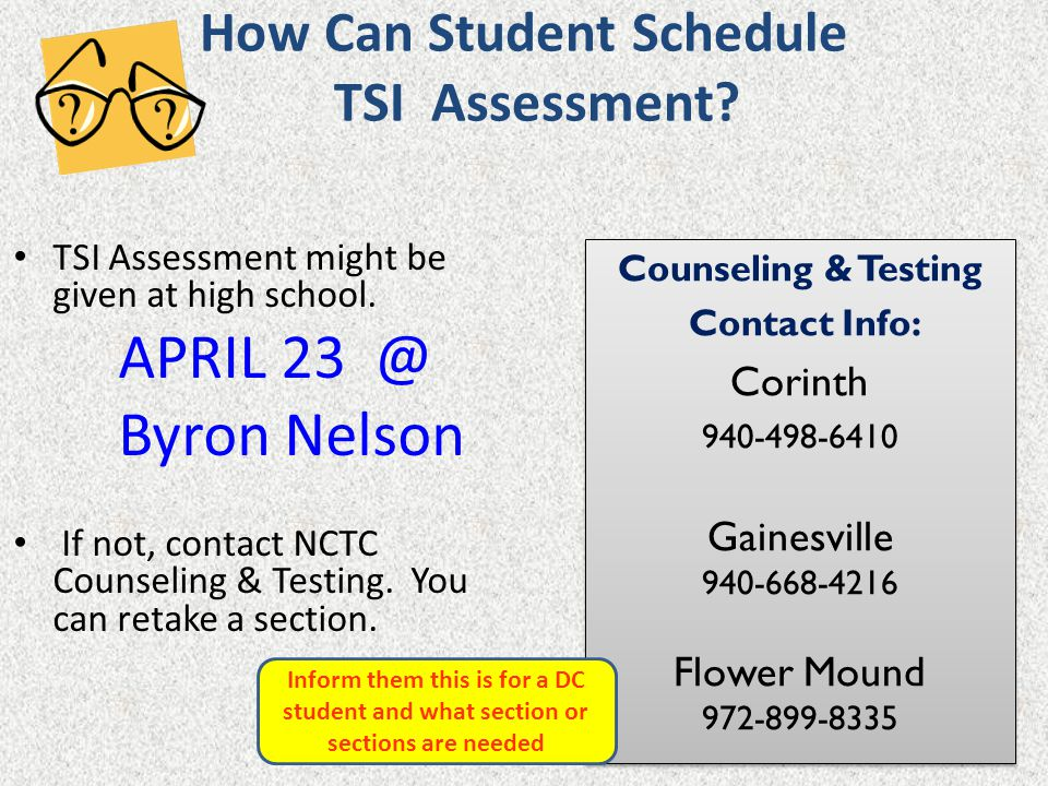 How Can Student Schedule TSI Assessment