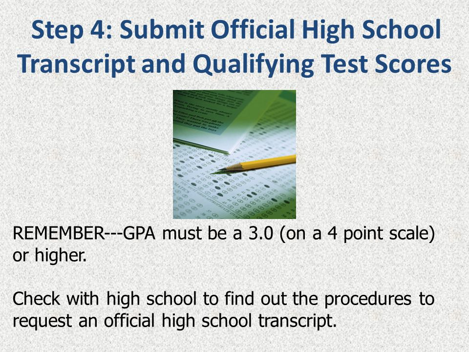 REMEMBER---GPA must be a 3.0 (on a 4 point scale) or higher.