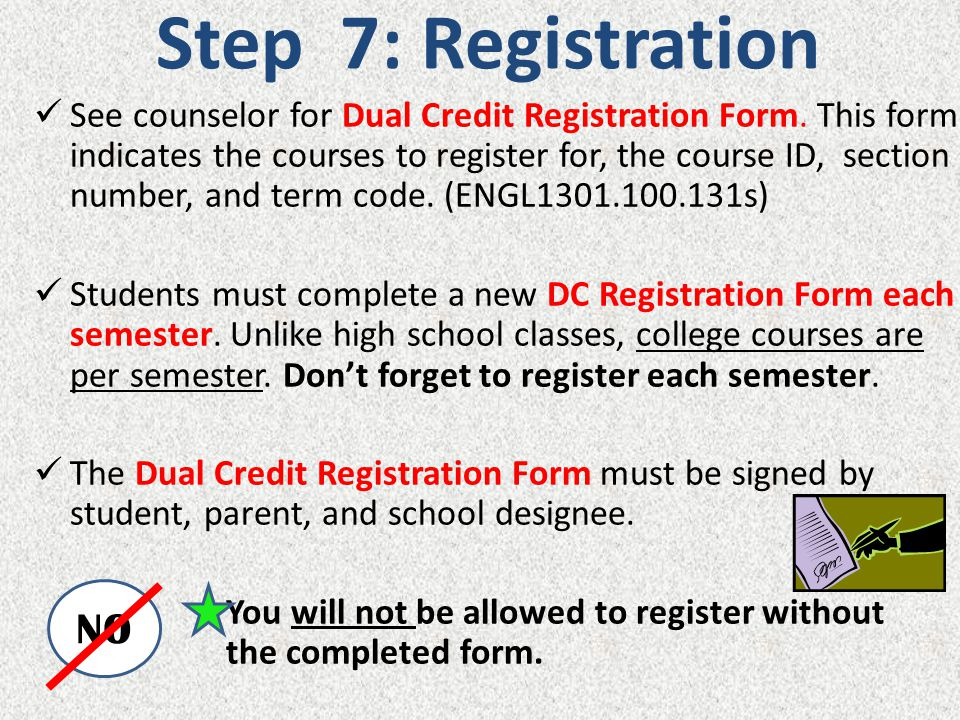 Step 7: Registration