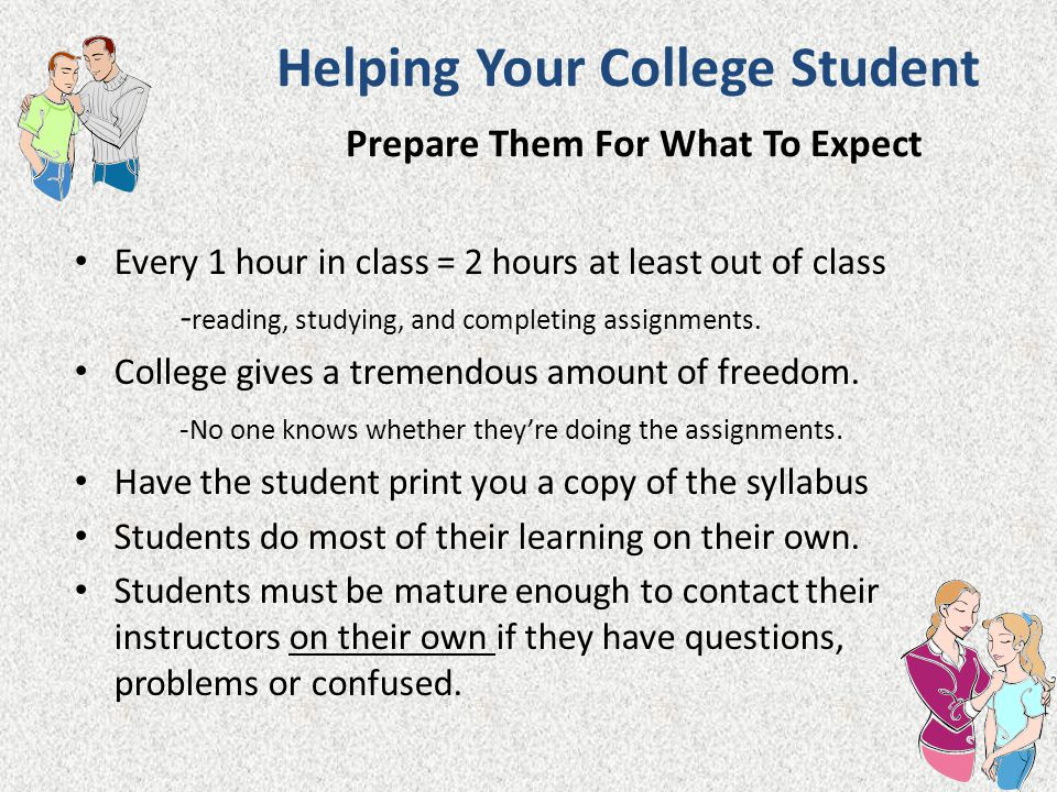 Helping Your College Student Prepare Them For What To Expect