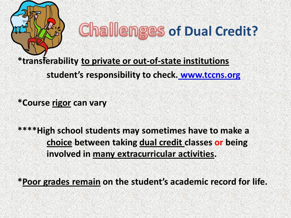 Challenges of Dual Credit