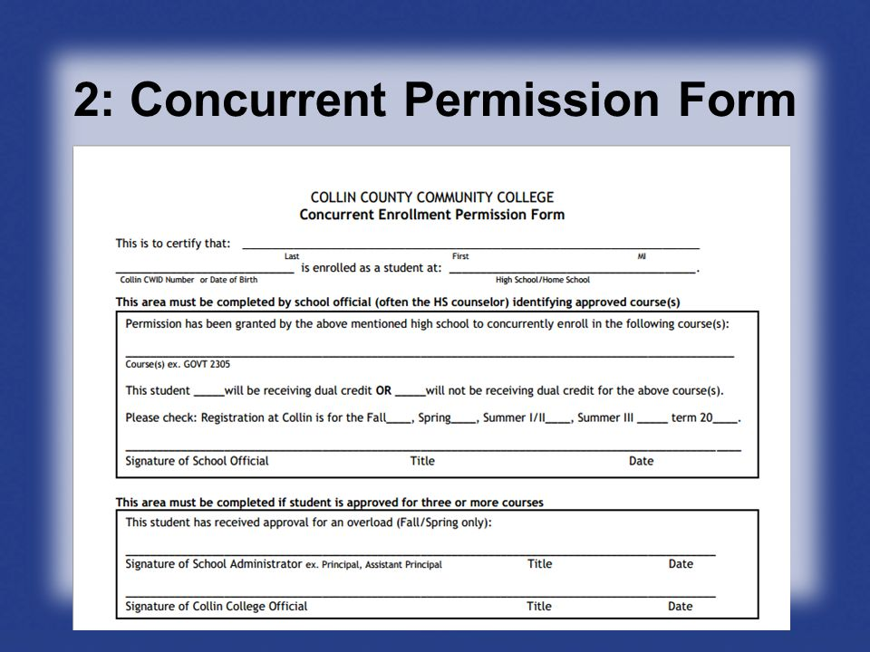 2: Concurrent Permission Form