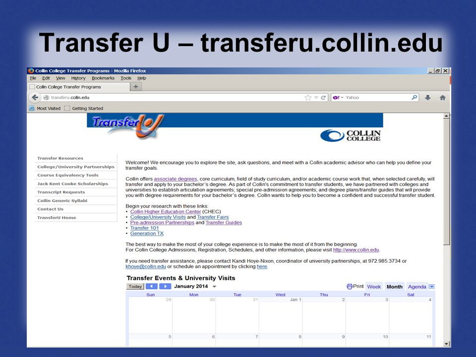 Transfer U – transferu.collin.edu