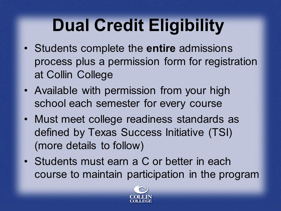 Dual Credit Eligibility