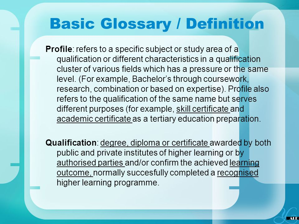 Basic Glossary / Definition