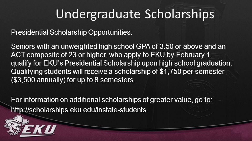 Undergraduate Scholarships