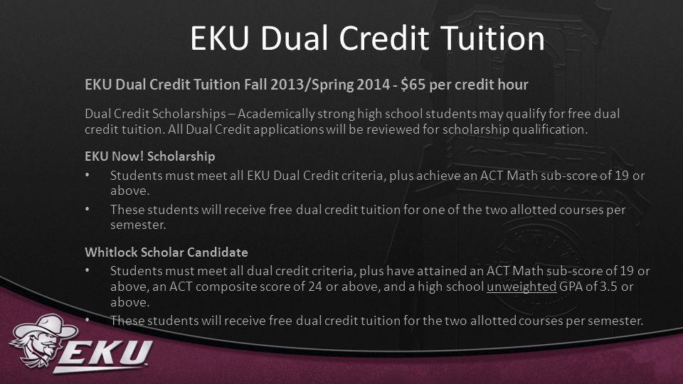 EKU Dual Credit Tuition