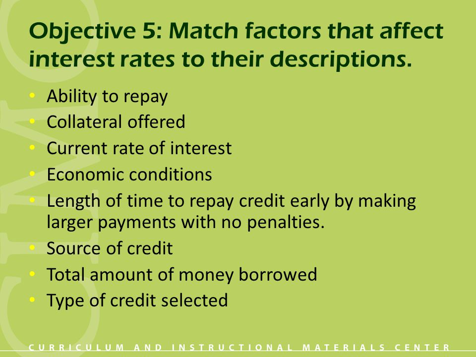 factors affecting interest rate on list The key factors which influences the demand for money are as follows- 1   interest rate policy followed by the central bank or the government in some  cases.