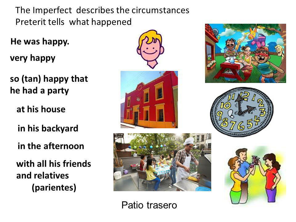 The Imperfect describes the circumstances