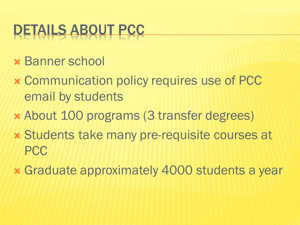 Details about PCC Banner school
