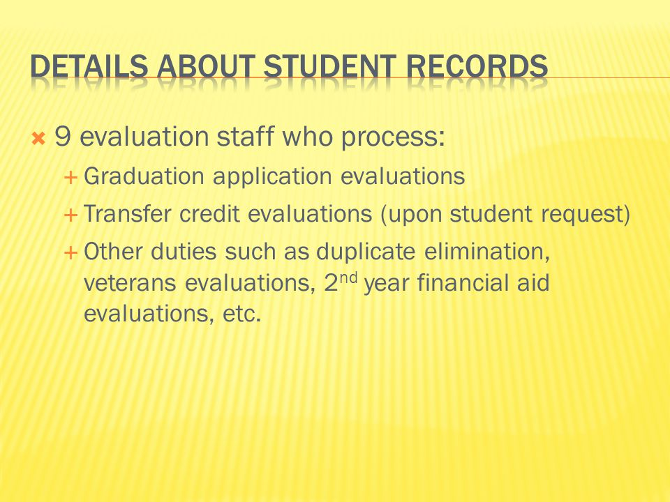 Details about Student records
