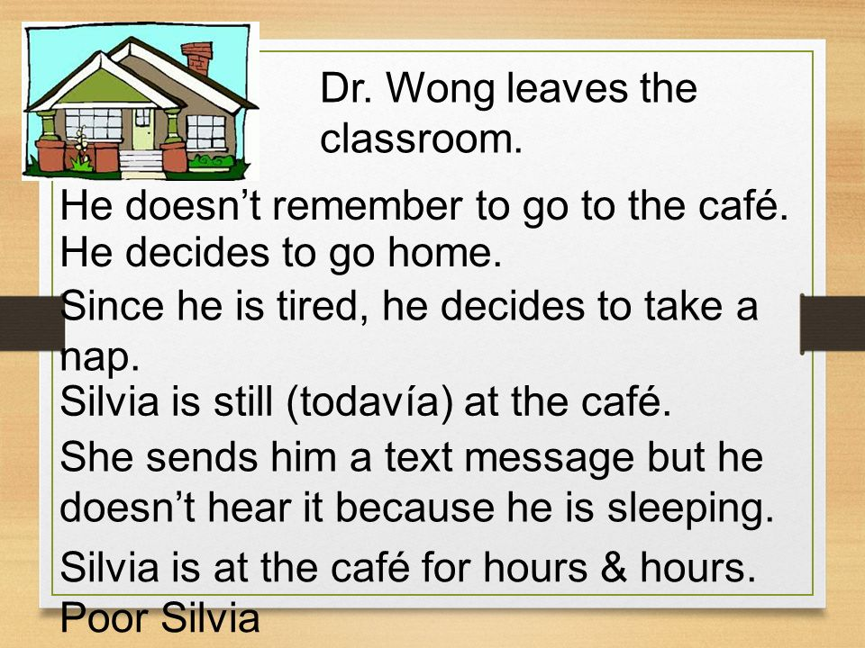 Dr. Wong leaves the classroom.