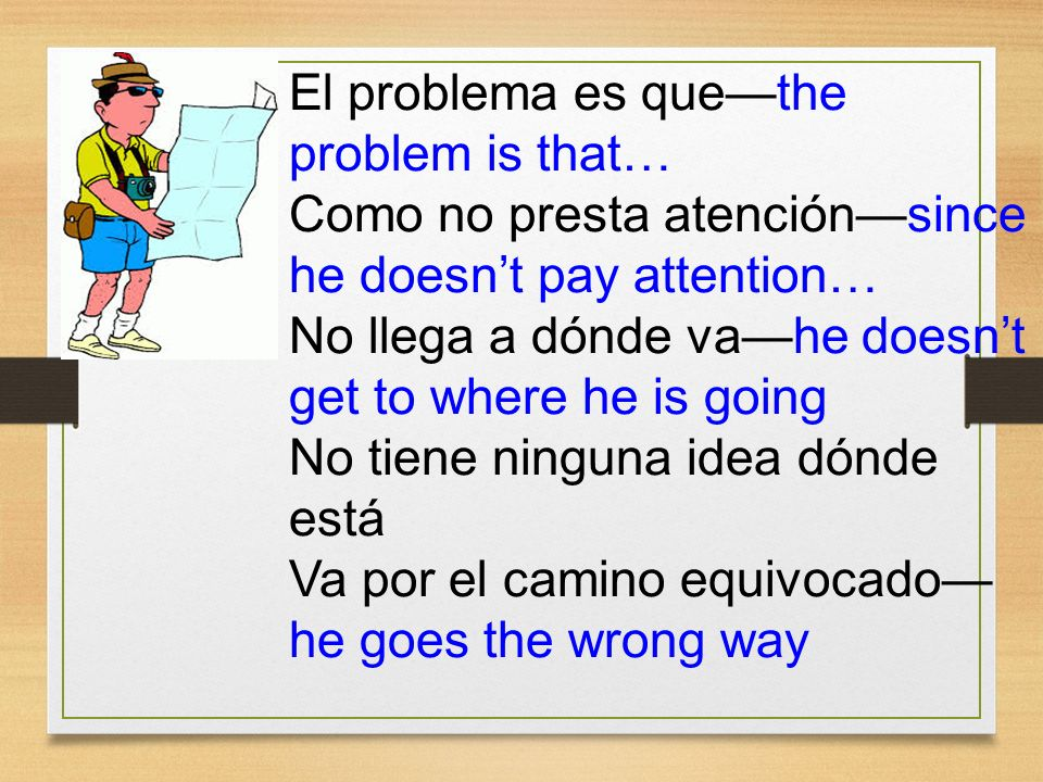 El problema es que—the problem is that…