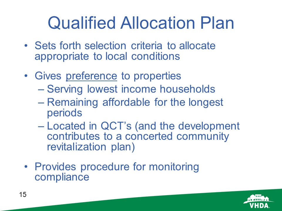 Qualified Allocation Plan