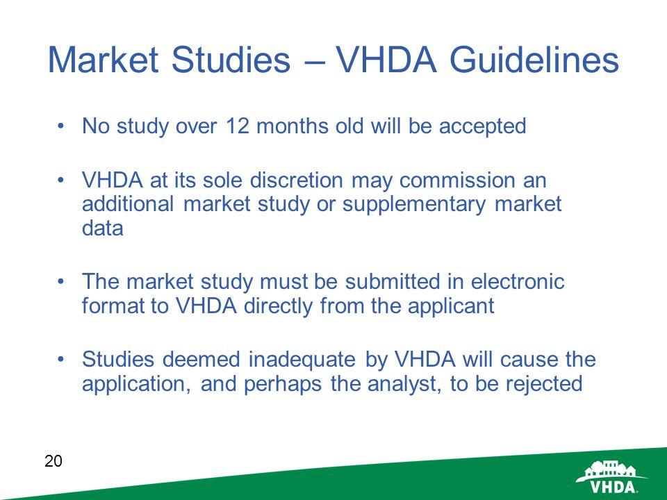 Market Studies – VHDA Guidelines