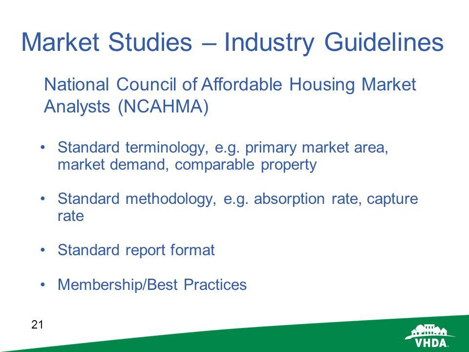 Market Studies – Industry Guidelines