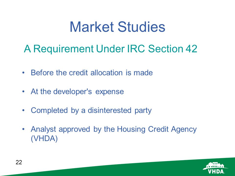 Market Studies A Requirement Under IRC Section 42