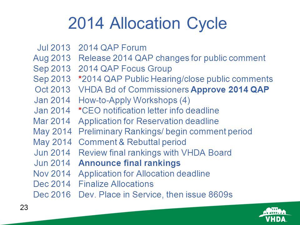 2014 Allocation Cycle Jul 2013 2014 QAP Forum