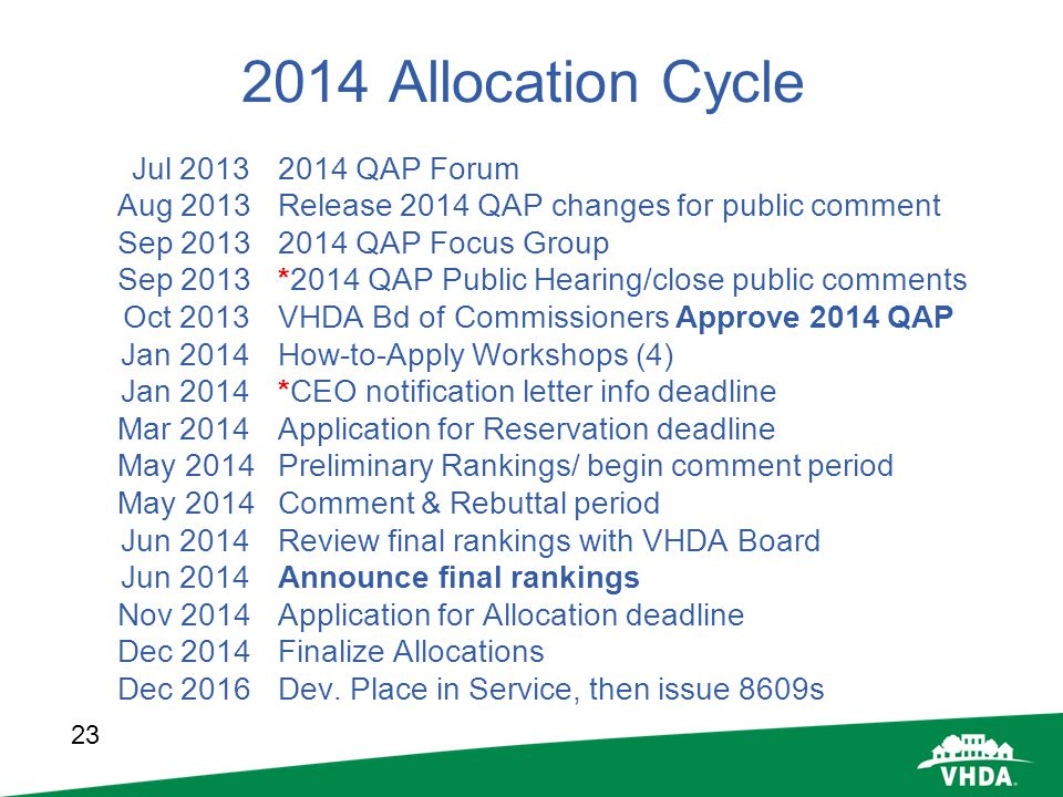 2014 Allocation Cycle Jul QAP Forum