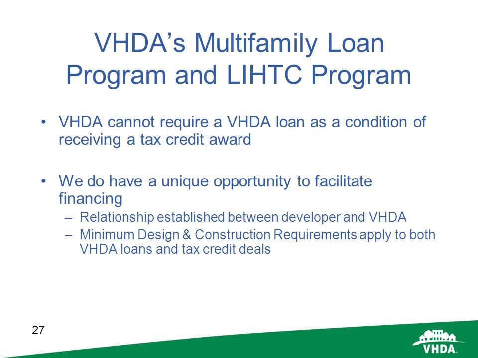 VHDA's Multifamily Loan Program and LIHTC Program
