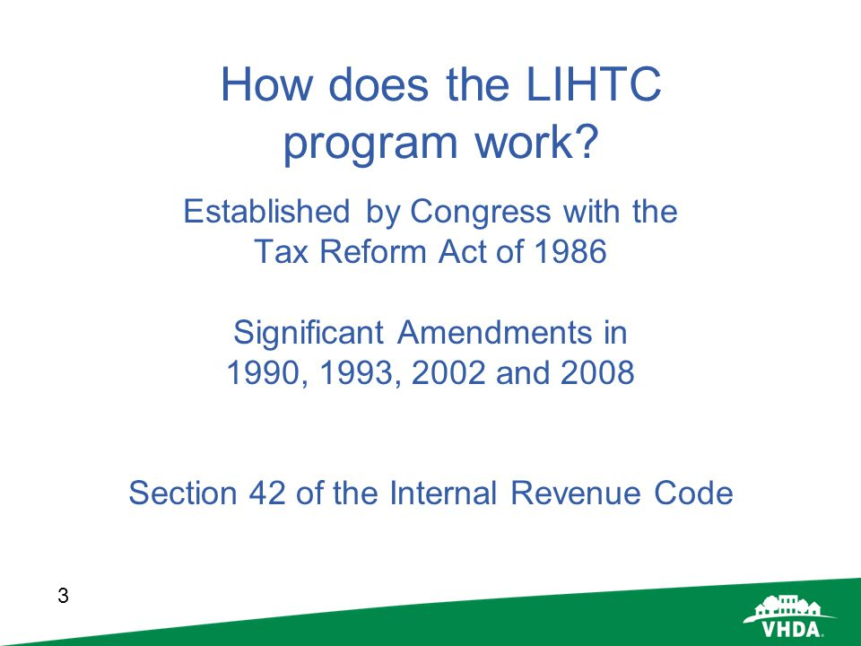 How does the LIHTC program work
