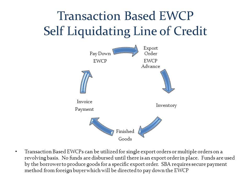 Transaction Based EWCP Self Liquidating Line of Credit