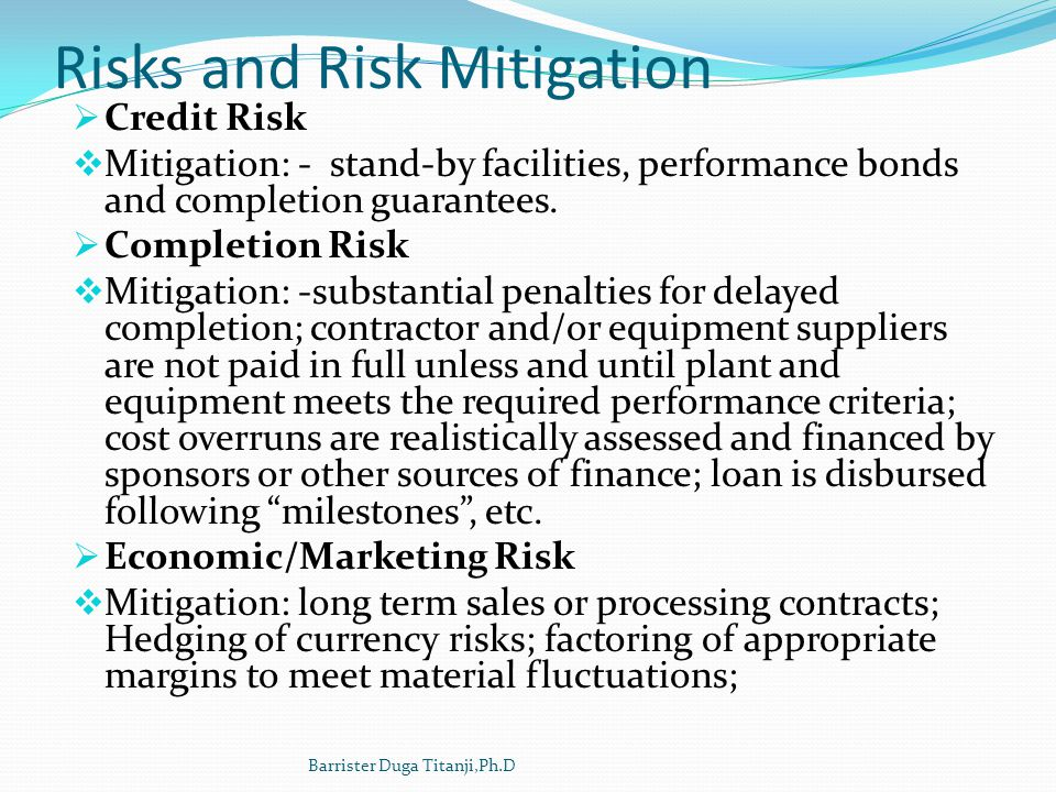 Risks and Risk Mitigation