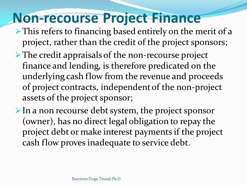 Non-recourse Project Finance