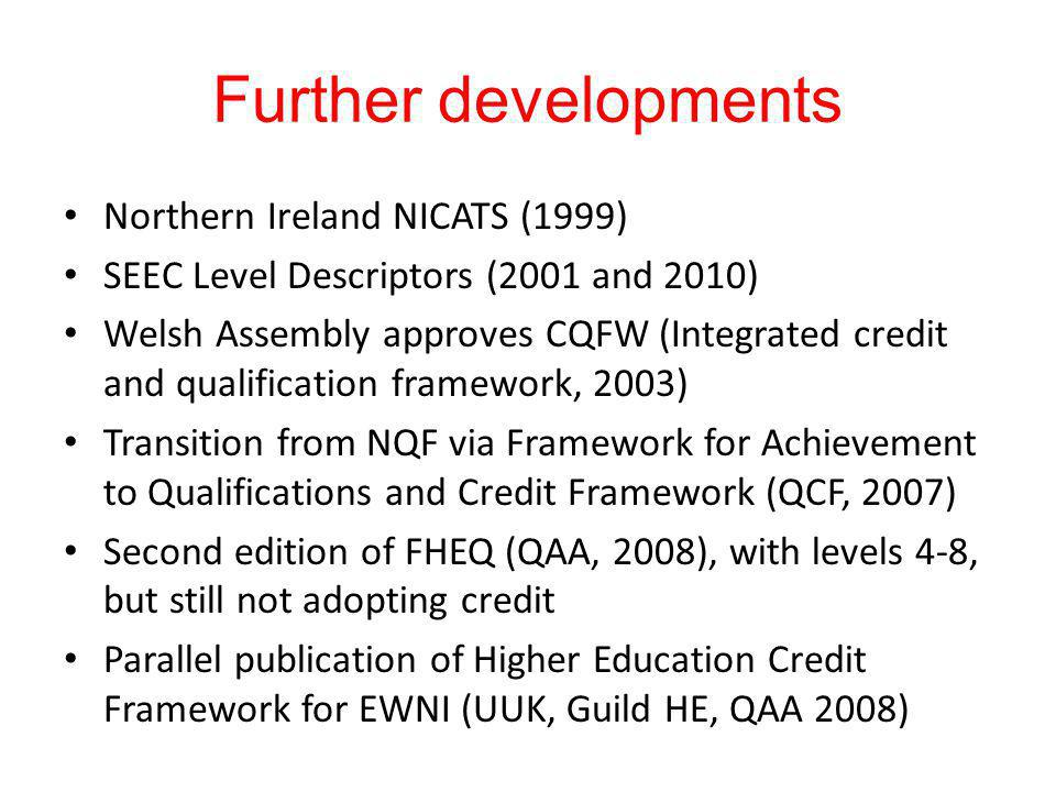 Further developments Northern Ireland NICATS (1999)